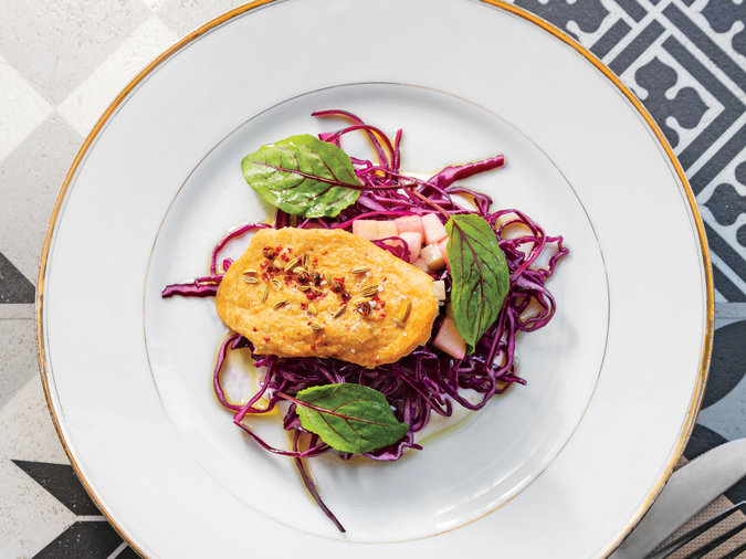 Red Cabbage, Apple and Fromage Blanc Salad Recipe