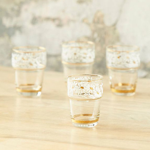 Patina Vie Vintage Floral Shot Glasses, Set of 4