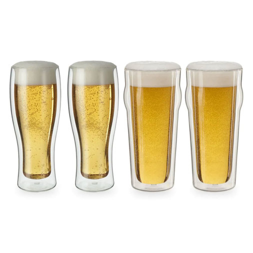 4-Piece Double Wall Beer Glass Set