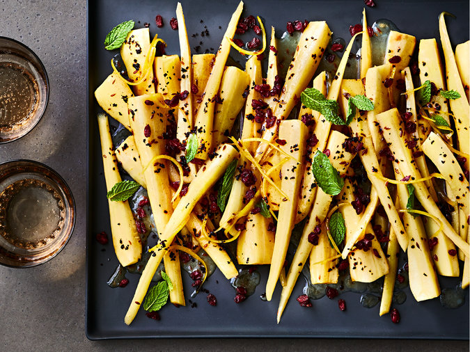 Chile-Mint Parsnips Recipe
