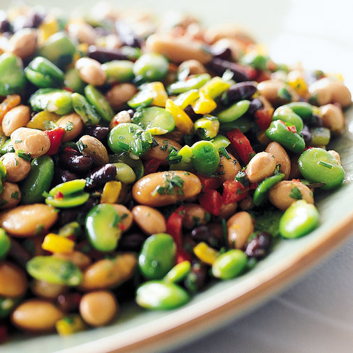Herbed Mixed Bean Salad with Peppers