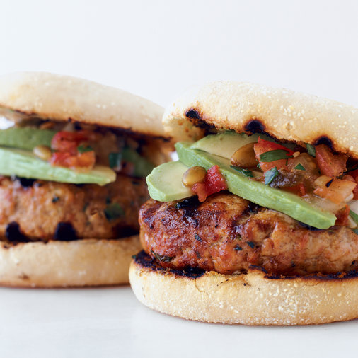 Oaxacan Turkey Burgers with Chipotle Salsa