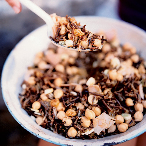 Wild Rice and Chickpea Salad with Ham