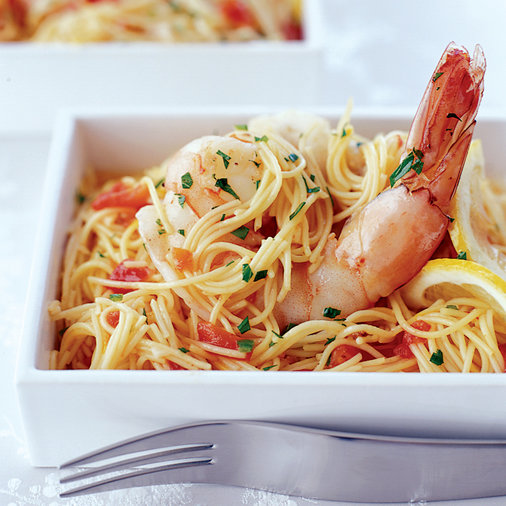 Seafood Capellini with Saffron