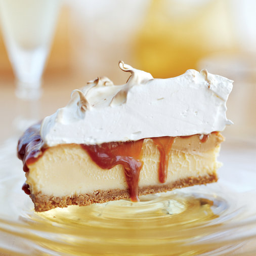 <p>Chilled Grapefruit-Caramel Meringue Pie</p>