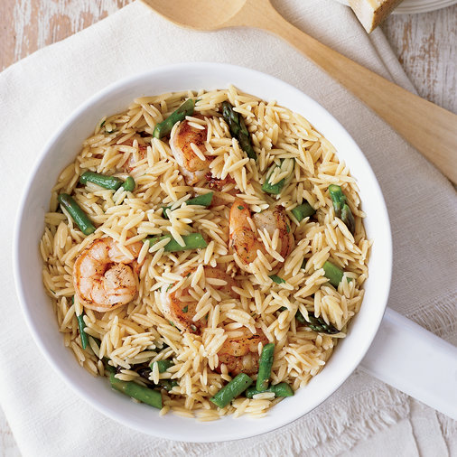 Orzo Risotto with Buttery Shrimp