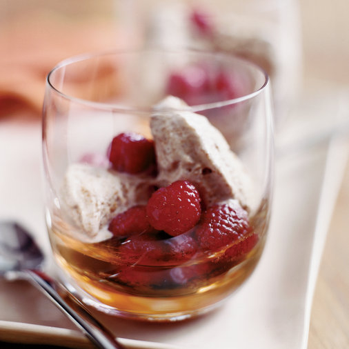 Graham Cracker Ice Cream Sundaes with Raspberries