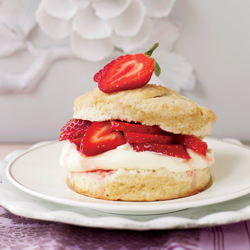Strawberry Shortcakes with Meyer Lemon Cream