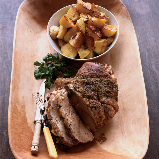 Roast Pork Shoulder with Fennel and Potatoes