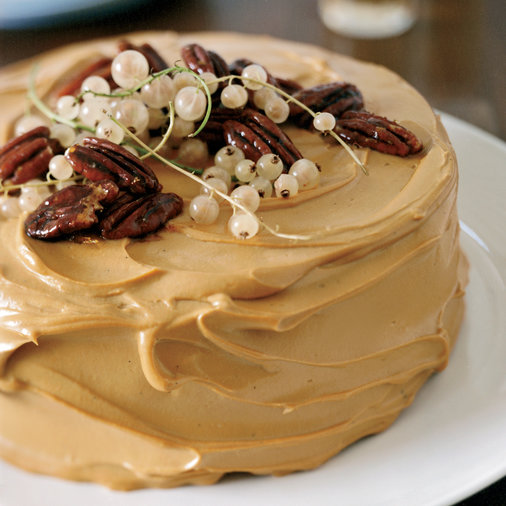 Pumpkin Cake with Caramel Cream Cheese Frosting