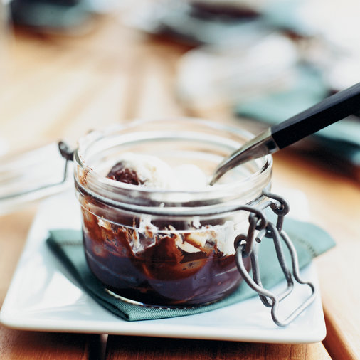 Rich Baked Chocolate Puddings