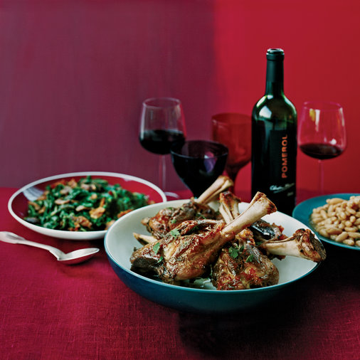 Pot-Roasted Lamb Shanks with Cannellini Beans