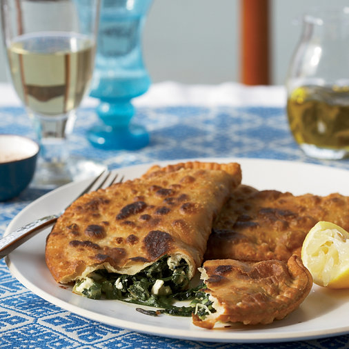 Greek Hand Pies with Greens, Dill, Mint and Feta