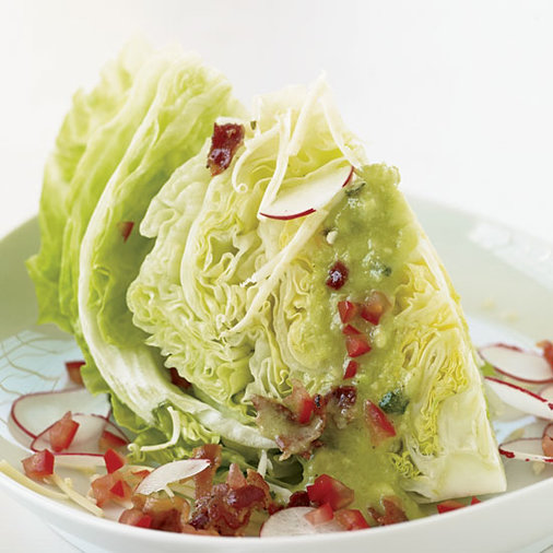 Iceberg Wedges with Guacamole Dressing