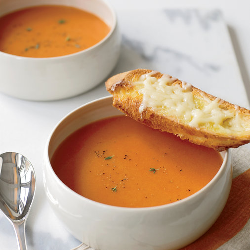 Day 21: Smoky Tomato Soup with Gruyère Toast