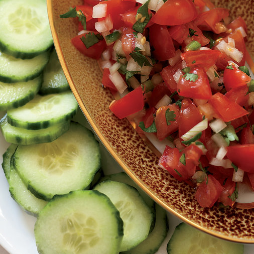 "Tomato Salsa with Cucumber ""Chips"""