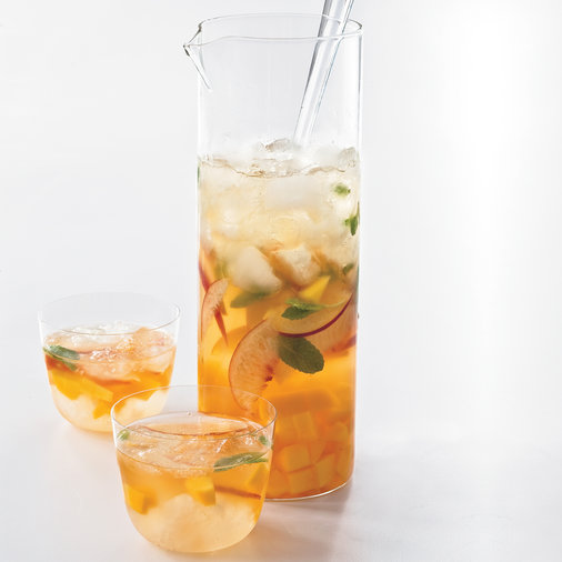 Day 20: Mango-Peach Sangria