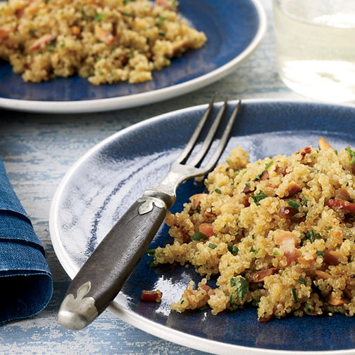 Jan. 13: Bacon Quinoa with Almonds and Herbs