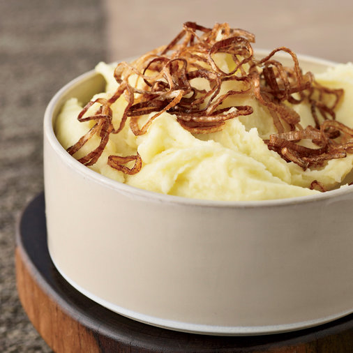 <p>March 15: Mashed Potatoes with Crispy Shallots</p>