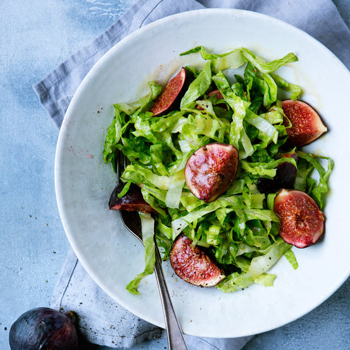 Romaine Salad with Flash-Pickled Figs