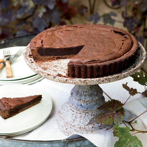 Chocolate-Bourbon Tart