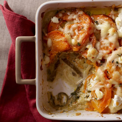 Squash Gratin with Poblanos & Cream