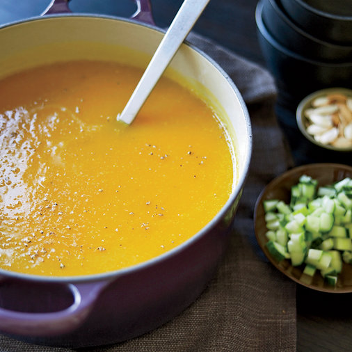 Winter Squash Soup with Roasted Pumpkin Seeds