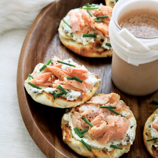 Smoked-Trout-and-Caper-Cream-Cheese Toasts