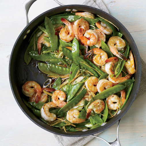 Jan. 7: Gingered Stir-Fry with Shrimp and Snow Peas