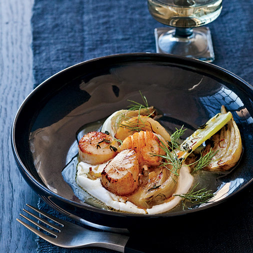 Scallops with Yogurt and Fennel
