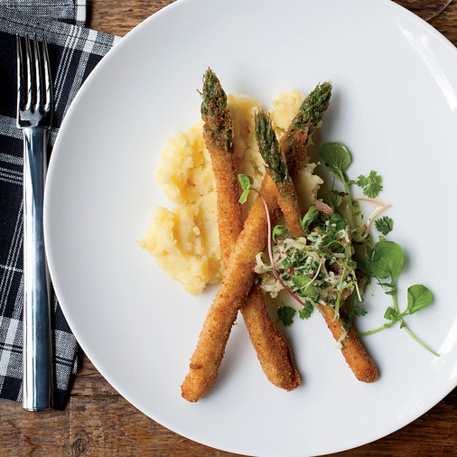 Asparagus with Watercress and Brown Butter Potatoes