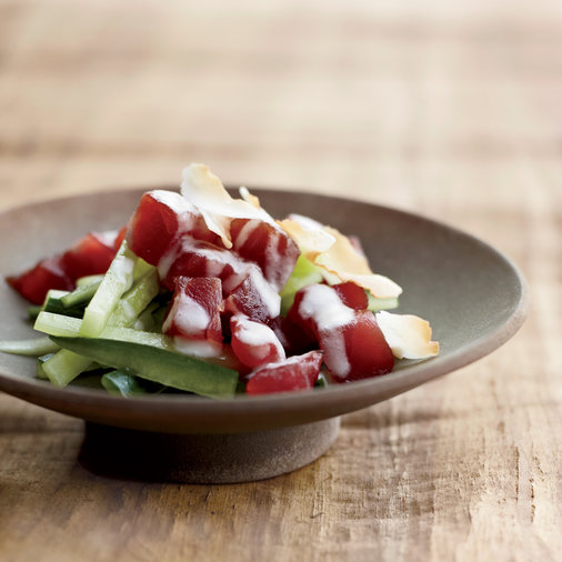 Samoan–Style Tuna–and–Cucumber Salad
