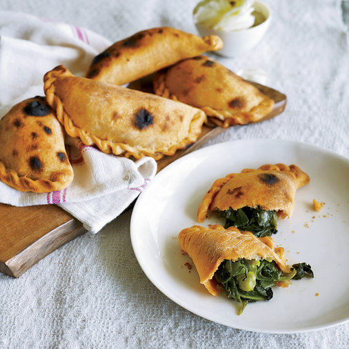 Spinach–and–Green–Pea Empanadas