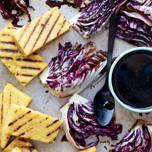 Day 13: Grilled Polenta and Radicchio with Balsamic Drizzle