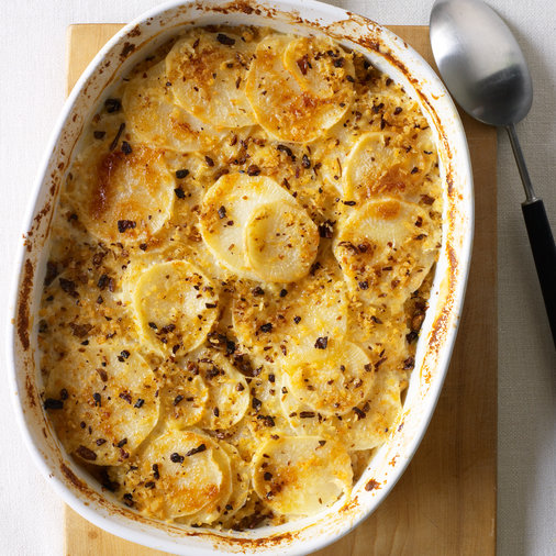 Turnip Casserole with Porcini Crumb Topping