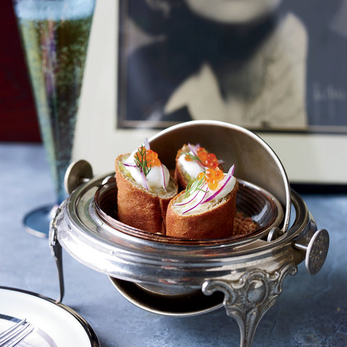 Buckwheat-Potato Knishes with Caviar