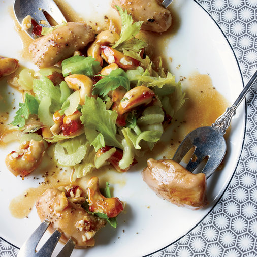 Chicken with Candied Cashews