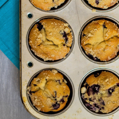 Blueberry-Lemon Coconut Muffins