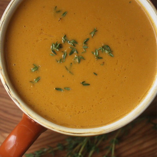 Creamy Pumpkin Soup with Thyme