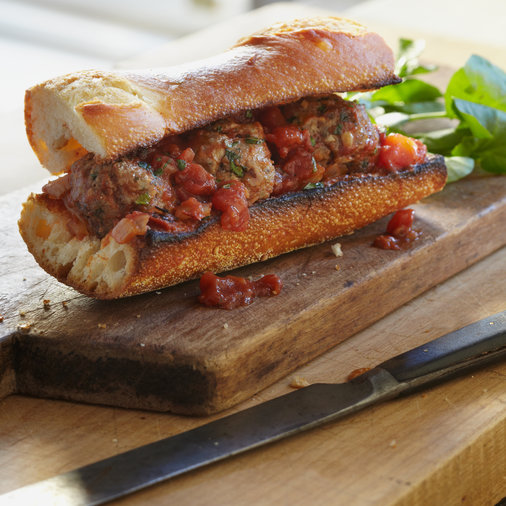 Lamb Meatballs with Cumin, Mint, and Tomato Sauce