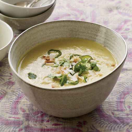 Curried Cauliflower Soup with Coconut and Chiles