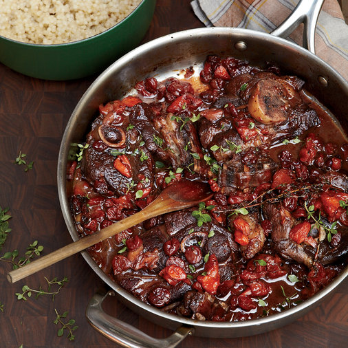 <p>Zinfandel-Braised Lamb Chops with Dried Fruit</p>