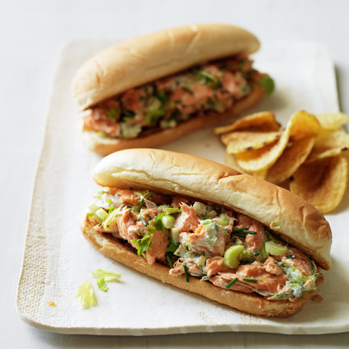 Lobster-Roll-Style Salmon Sandwiches