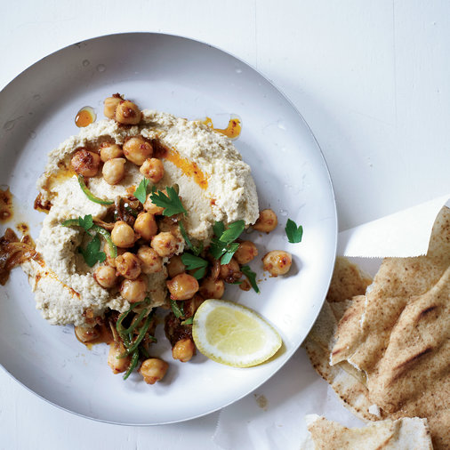 <p>Hummus with Tahini and Spicy Chickpeas</p>
