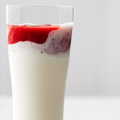 Frosty Strawberry-and-Cream Milk Shakes