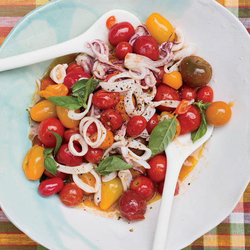 Day 20: Squid with Burst Cherry Tomatoes