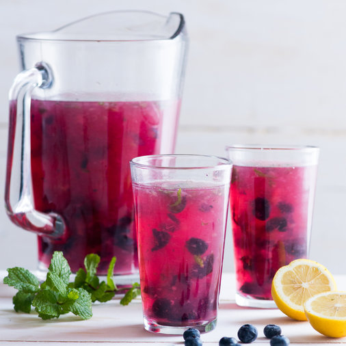 Day 19: Minted Blueberry Lemonade