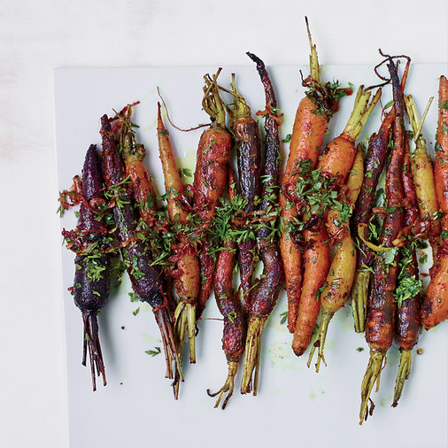 Roasted Carrots with Carrot Top Gremolata