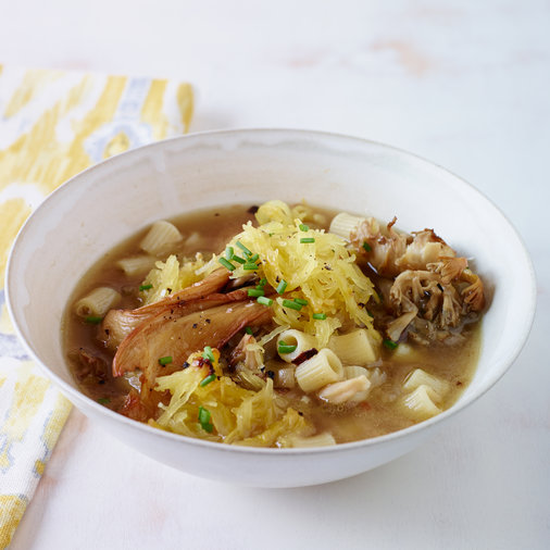 Spaghetti Squash Soup with Wild Mushrooms