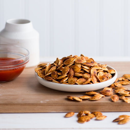 Sriracha-Roasted Pumpkin Seeds